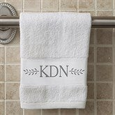 Meadow Monogram Personalized Hand Towel