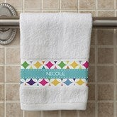 Geometric Personalized Hand Towel - 15838
