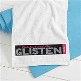 Girls Don't Sweat Personalized Gym Towel