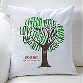 Tree Of Words Personalized Keepsake Pillow - 15842