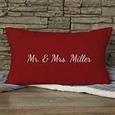 Our Wedding Date Personalized Lumbar Throw Pillow - 15843-LB