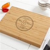 Circle Of Love Personalized Bamboo Cutting Board- 10x14 - 15848