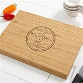 Circle Of Love Personalized Bamboo Cutting Board- 14x18 - 15848-L