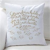 Grandchildren Fill Our Hearts Personalized Throw Pillow - 15854