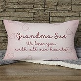 Grandchildren Fill Our Hearts Personalized Lumbar Throw Pillow - 15854-LB
