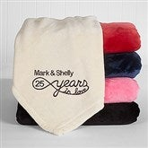 Years In Love Personalized 50x60 Anniversary Fleece Blanket - 15870