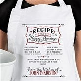 Recipe for a Happy Marriage Personalized Apron - 15873-A