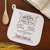 Recipe for a Happy Marriage Personalized Potholder - 15873-P