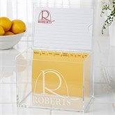 Monogram Elegance Personalized 4x6 Recipe Box - 15887