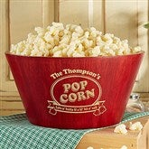 Popcorn Night Bamboo Personalized Serving Bowl - 15898