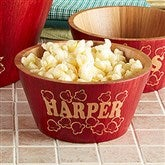 Popcorn Night Bamboo Personalized Bowl- Small - 15898-S