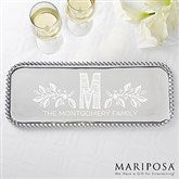Family Name Personalized Mariposa String of Pearls Serving Tray - 15901