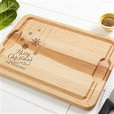 Snowflakes Personalized Extra Large Cutting Board- 15x21 - 15910-XL