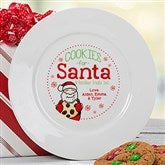 Cookies For Santa Personalized Plate - 15915-P