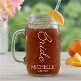 Bridal Brigade Personalized Glass Mason Jar - 15919
