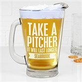 Beer Quotes Personalized Deep Etch Beer Pitcher - 15923