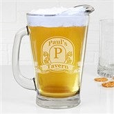 Vintage Bar Sign Personalized Deep Etch Beer Pitcher - 15924