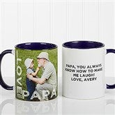 Loving Them Personalized Photo Coffee Mug 11oz.- Blue - 15932-BL