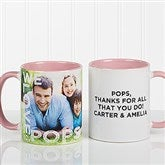 Loving Them Personalized Photo Coffee Mug 11oz.- Pink - 15932-P