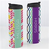 Geometric Personalized 16oz. Travel Tumbler - 15934