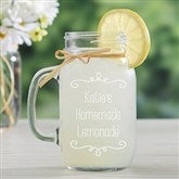 Write Your Own Personalized Glass Mason Jar - 15935