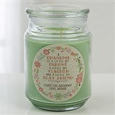 My Grandma, My Friend Personalized Scented Candle Jar - 15938