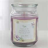 For Her Personalized Scented Glass Candle Jar