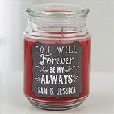 Love Quotes Personalized Scented Glass Candle Jar - 15941