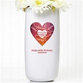 We Love You To Pieces Personalized Ceramic Vase - 15947