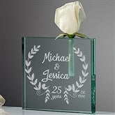 Happy Anniversary Personalized Bud Vase - 15948