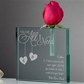 You're All I Need Personalized Bud Vase - 15949