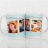 3 Photo Collage Personalized Coffee Mug 15oz.- White - 15961-L
