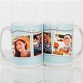 3 Photo Collage Personalized Coffee Mug 15oz.- White - 15961-L