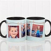 3 Photo Collage Personalized Coffee Mug 11oz. - Black - 15961-W