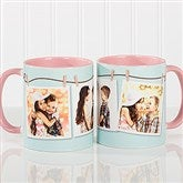 3 Photo Collage Personalized Coffee Mug 11oz.- Pink - 15961-P