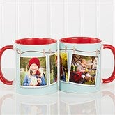 3 Photo Collage Personalized Coffee Mug 11oz.- Red - 15961-R
