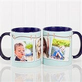 3 Photo Collage Personalized Coffee Mug 11oz.- Blue - 15961-BL