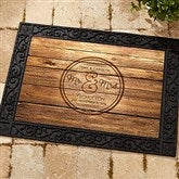 Circle Of Love Personalized Doormat- 18x27 - 15962
