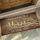 Welcome To Our Nest Personalized Oversized Doormat- 24x48 - 15963-O
