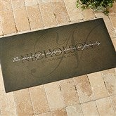 The Heart Of Our Home Personalized Oversized Doormat- 24x48 - 15964-O