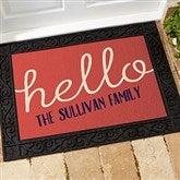 Front Door Greetings Personalized Doormat - 15965