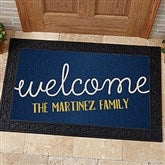 Front Door Greetings Personalized Doormat- 20x35 - 15965-M