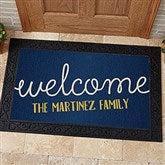 Front Door Greetings Personalized Doormat- 20x35 - 15965-M
