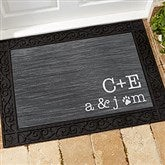 Family Initials Personalized Doormat-18x27 - 15966
