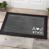 Family Initials Personalized Doormat-20x35 - 15966-M