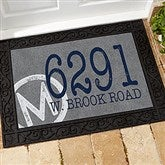 Initial Stamped Address Personalized Doormat- 18x27 - 15967