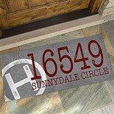 Initial Stamped Address Personalized Oversized Doormat- 24x48 - 15967-O