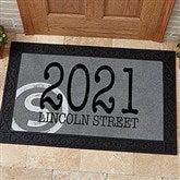 Initial Stamped Address Personalized Doormat- 20x35 - 15967-M