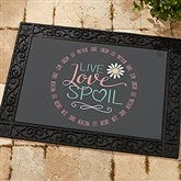 Live, Love, Spoil Personalized Doormat- 18x27 - 15968