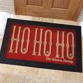 HO HO HO Personalized Doormat- 20x35 - 15970-M
